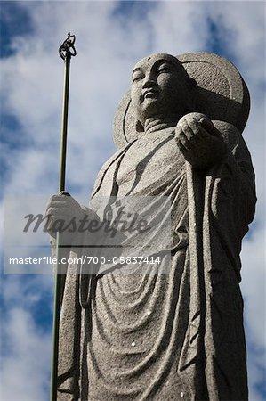 Statue de Bouddha au Monument Yamato, Cap Intabu, île de Tokunoshima, préfecture de Kagoshima, Japon