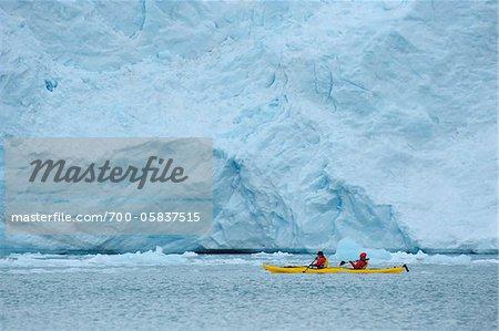 People Kayaking, Monacobreen, Svalbard, Spitsbergen, Norway