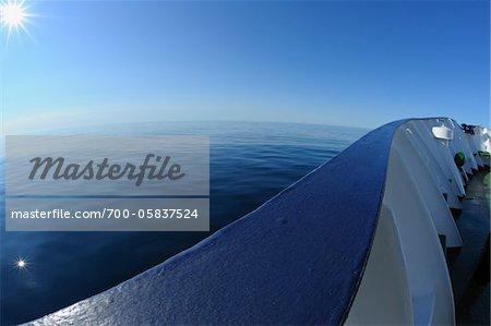 Railing on Expedition Vessel, Greenland Sea, Arctic