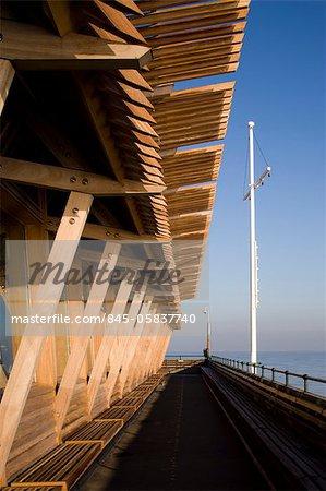 Restaurant de Jasin, Pier Deal, Kent, Angleterre. Architectes : Niall Mclaughlin Architects