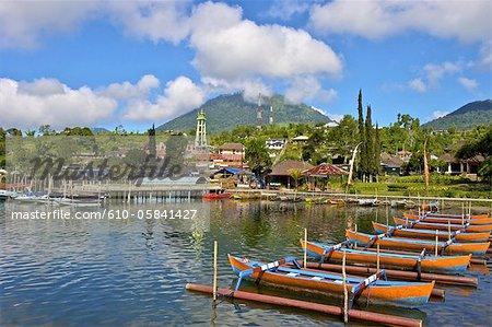 Temple Ulun Danu Bratan Indonésie, Bali, lac Bratan