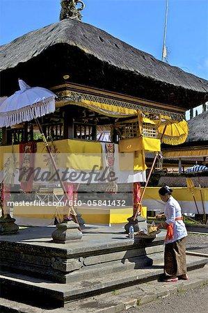 Indonesia, Bali, Ulun Danu Bratan temple, offering