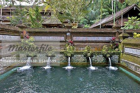 Indonesia, Bali, Gunung Kawi temple, fountains