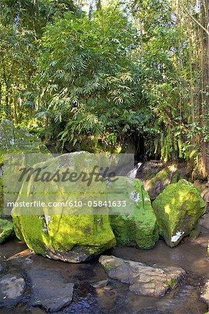 Indonesia, Bali, Goa Gajah temple (elephant cave), rocks