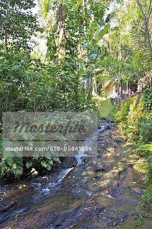Indonesia, Bali, Goa Gajah temple (elephant cave), river