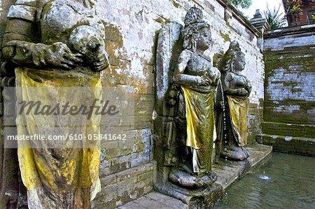 Indonesia, Bali, Goa Gajah temple (elephant cave), fountains