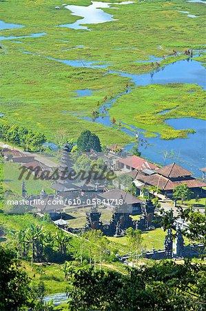 Indonesia, Bali, Buyan lake, hindu temple