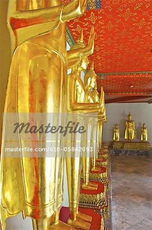 Thaïlande, Bangkok, Wat Pho, galerie de Bouddha