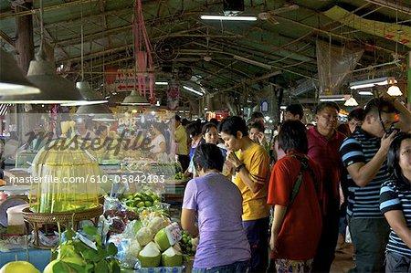 Thailand, Bang Pakong River, Markt von Talad Don Wai