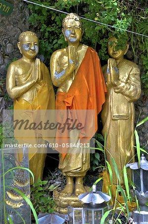 Thaïlande, Bangkok, Wat Saket, Bouddha