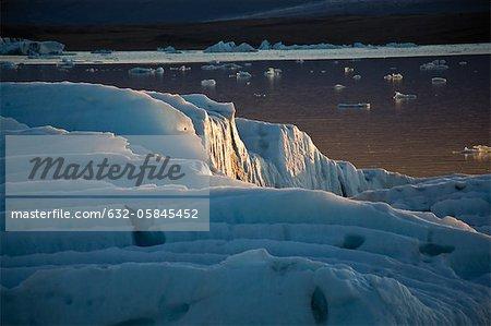 Iceburg on Jokulsarlon glacial lagoon, Iceland