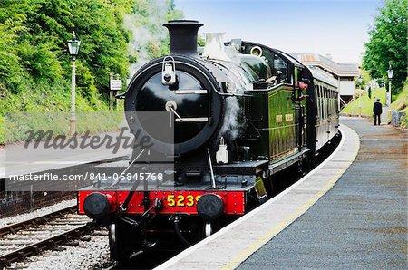 Dartmouth et ferroviaire de Paignton, Station de Kingswear, Dartmouth, Devon, Angleterre, Royaume-Uni, Europe