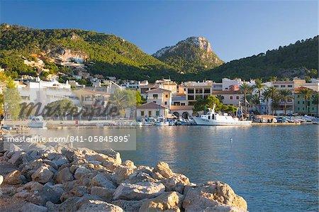 Vue sur le port, Port d'Andratx, Majorque, Baléares Îles, Espagne, Méditerranée, Europe