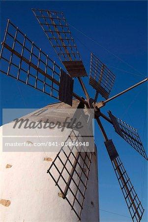 Windmill near Valle de Santa Ines, Fuerteventura, Canary Islands, Spain, Europe