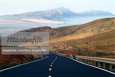 Road near La Pared, Fuerteventura, Canary Islands, Spain, Europe