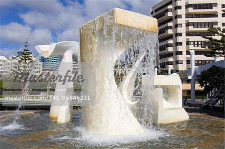 Fontaine d'albatros par Tanya Ashley Frank Kitts Park, Wellington, North Island, Nouvelle-Zélande, Pacifique