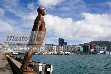 Consolation dans le vent par Max Patte, Wellington, North Island, Nouvelle-Zélande, Pacific