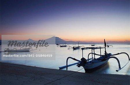 Sanur beach at dawn, Bali, Indonesia, Southeast Asia, Asia