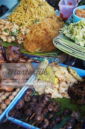Essen auf der Straße stehen, Yogyakarta, Java, Indonesien, Südostasien, Asien