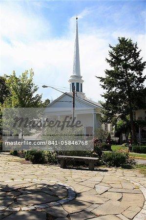 Place de la ville, Woodstock, célèbre pour prêter son nom à l'Amérique du Nord de 1969 Festival de Woodstock, Catskills, Ulster County, New York État, États-Unis d'Amérique,
