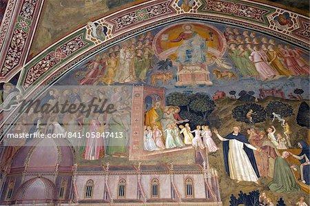 Militant and Triumphant Church by Andrea di Bonaiuto, Spanish Chapel, Santa Maria Novella, Florence, UNESCO World Heritage Site, Tuscany, Italy, Europe