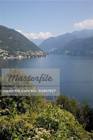 Vue du lac de Côme, Lombardie, lacs italiens, Italie, Europe