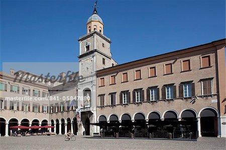 Piazza Grande Clock Tower, Modena, Emilia Romagna, Italy, Europe