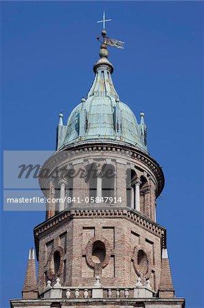 Detail of Monastery belltower, Parma, Emilia Romagna, Italy, Europe