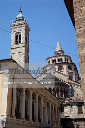 Basilique Santa Maria Maggiore, Piazza Duomo, Bergame, Lombardie, Italie, Europe