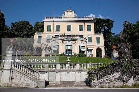 Villa au bord du lac, Cadenabbia, lac de Côme, Lombardie, lacs italiens, Italie, Europe