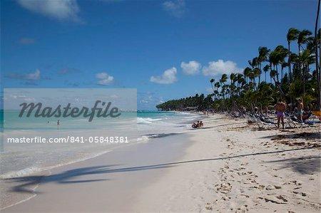Plage de Bávaro, Punta Cana, République dominicaine, Antilles, Caraïbes, Amérique centrale