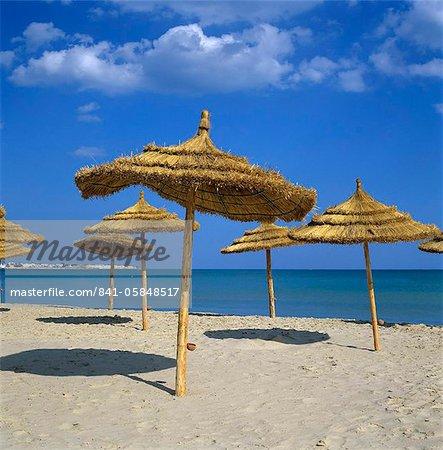 Beach scene, Hammamet, Cap Bon, Tunisie, Afrique du Nord, Afrique