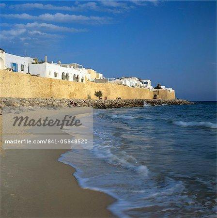 La médina murs, Hammamet, Cap Bon, Tunisie, Afrique du Nord, Afrique