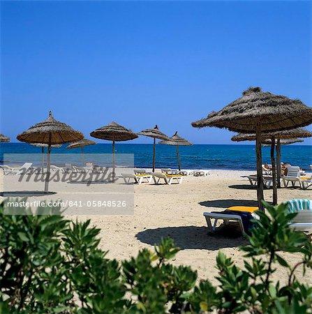 Scène de plage, Yasmine Hammamet, Cap Bon, Tunisie, Afrique du Nord, Afrique
