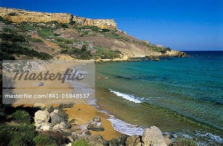 San Blas Bay, Malta, Gozo, Mittelmeer, Europa