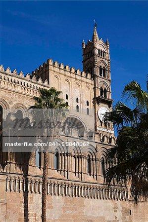 Extérieur du Norman Cattedrale (cathédrale), Palerme, Sicile, Italie, Europe