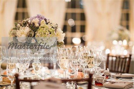 Tabelle auf Hochzeit