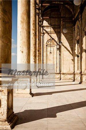 Colonnade, Mosque of Muhammad Ali, Saladin Citadel, Cairo, Egypt