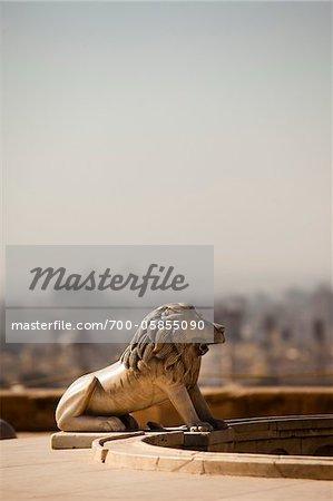 Close-Up of Lion Statue, Saladin Citadel, Cairo, Egypt