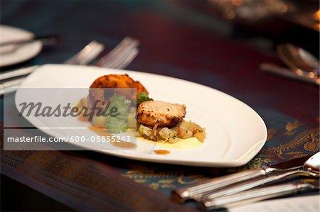 Chick Peas and Chicken Dish at Hindu Wedding