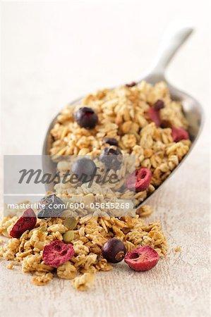 Boule de céréales avec des fruits secs
