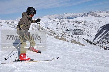 Boy Skiing, La Foux d'Allos, Allos, France