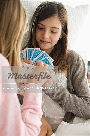 Zwei Mädchen-Spielkarten
