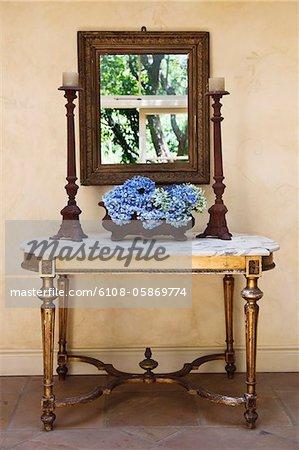 Anzeigen der alten Möbel im Haus