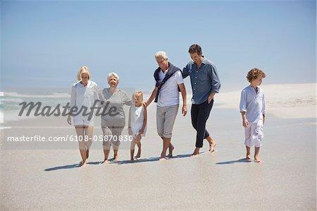 Family enjoying on the beach