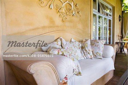 Couch in a veranda