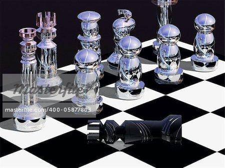 La capture du roi signifie la fin d'un jeu d'échecs