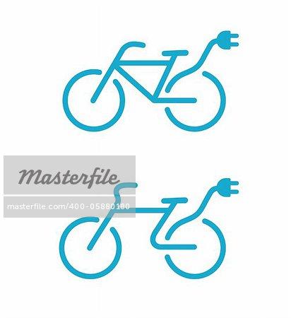 Vector illustration de l'icône de vélo électrique Simple