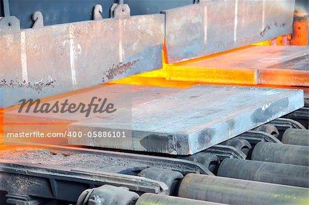 hot steel in oven