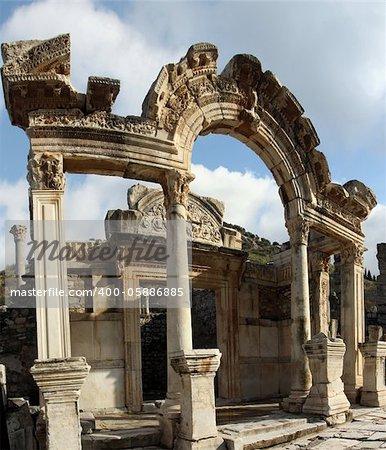 The Temple of Hadrian, ruins of Ephesus, Turkey